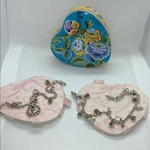 2 Brighton bracelets and heart tin